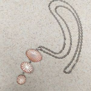 Mid century modern 3 tier pendant chain necklace